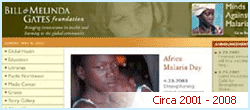 Bill & Melinda Gates Foundation Website, Circa 2000 - 2008