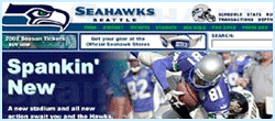 Seahawks Website & Interactive Stadium